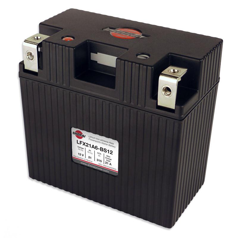 Shorai LFX21A6-BS12 Lithium Battery For 96-18 Motorcycle Aprilia/BMW/ Buell