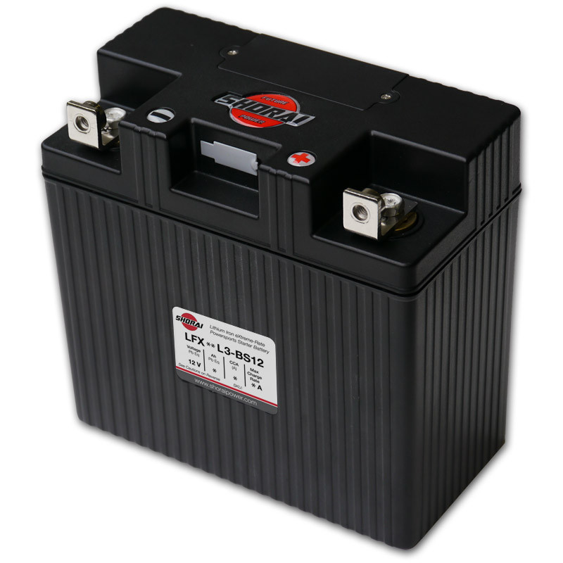Shorai LFX24L3-BS12 Lithium Iron Extreme-Rate Battery For 73-10 Motorcycle